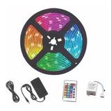 Cinta Led Rgb 5050 Multicolor Con Control Y Adaptador