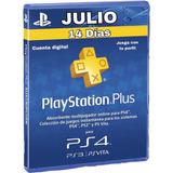 Play Station Plus Por 14 Días