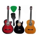 Guitarra Acustica Forro Colgador Pua Garantia 1 Año Fabrica