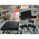Ps3 Slim Con Juegos Fifa Gta 5 Pes + 160gb 2 Controles