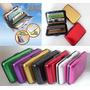 Billetera Tarjetero Wallet Aluma Colores Portadocuementos