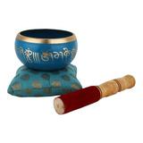 Cuenco Tibetano Meditación Om Mani Mas Cojín Y Mazo