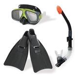 55959 Careta Snorkel Intex Surf Rider Sport Aletas L