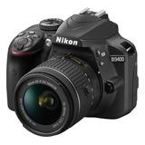 Camara Nikon D3400 18-55mm - Negro Nuevo