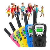 2 Walkie Talkie Intercomunicadores Baofeng Niños, 5 Colores