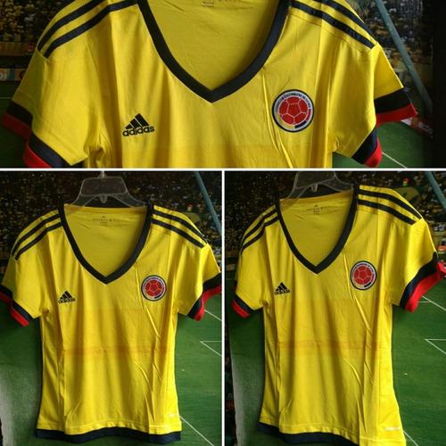 Camiseta Selección Colombia Dama Amarilla 50ceadd4f8b88