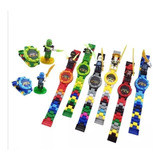Reloj Com/ Lego Super Heroes Ninjago Niños Piñatas Ajd
