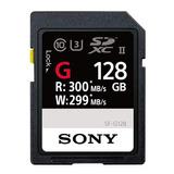 Memoria Sd Sony 128 Gb C10 300 Mb/seg Sf-g128 Uhs-ii 4k