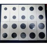 Cartones C/acetato Almacenar Monedas X 50unds 2 Medidas Caja