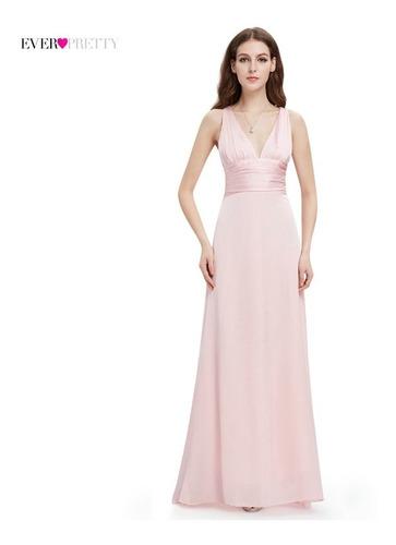 d5a41eb9d Vestido De Mujer Noche Satinado Gala Largo Elegante