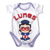 Set Semanario Bodies Bebe Niña Niño Superheroes Recien Nacid