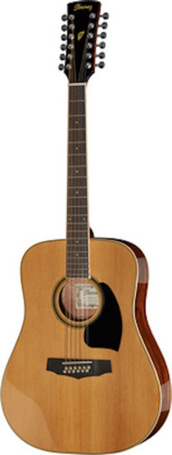 Guitarra Folk Acustica Ibanez Pf1512 De 12 Cuerdas Madera