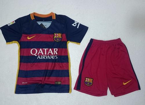 Uniforme Camiseta Barcelona Niño 2015   2016 Original 0fcb0828fcf