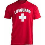 Salvavidas Camiseta Unisex Para Hombre Y Mujer Color Rojo