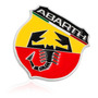 Emblema Abarth Fiat Abarth Metálico Original Relieve