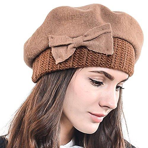 3b5b6dc9b4db9 F story boina de invierno francesa lana para mujer cafe jpg 500x500 Beret  boinas para hombre