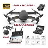 Drone Gd89 Pro X Estuche Sensores Doble Camara 1080p Dron