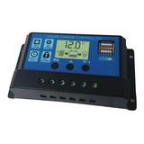 Regulador Controlador Energía Solar  Pwm 12/24v 10a  Usb 5v