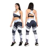Conjunto Fit Suplex Sublimada Gym Crossfit Deportes