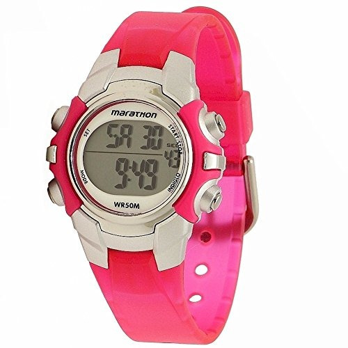 45c20d3552d6 Timex Maratón De Mujeres T5k8089j Indiglo Rosa plata Reloj D
