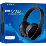 Audifonos Sony New Gold Stereo Ps4 Ps3 Pc Inalambrico Nuevos