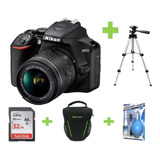 Camara Nikon D3500 18-55 +32gb+bolso+tripode+kit De Limpieza