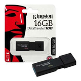 Memoria Usb 16gb Kingston Data Traveler 100g3- 3.1/3.0/2.0