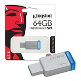 Memoria Usb De 64 Gb Kingston Metalica Dt50 Original