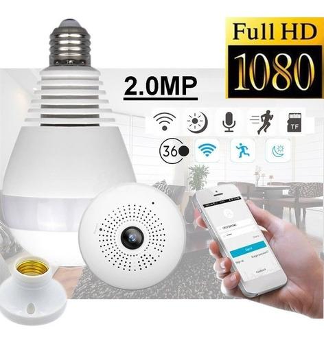 Camara Seguridad Wifi 1080p Bombillo 360 Vision Nocturna +ob