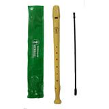 Flauta Dulce Herball Con Funda Y Limpiador Cuerpo Plástico