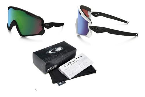 edd4641ec6 Gafas Oakley Wind Jacket Ciclismo 3 Lentes Deportivas Uv400