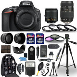Camara Nikon D5600 Digital+ Super Kit Accesorios 30 Piezas