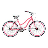 Bicicleta Tipo Cruiser Mujer Rin 24  Coral Huffy 24435y