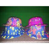 Sombrero Neón Estampado Fiestas Piñateria Hora Loca X12