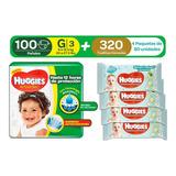 Huggies Active Sec G 100uds + Toal - Unidad a $1032