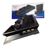 Base Vertical Ps4 Slim Cargador Dualshock Refrigerante