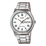 Reloj Casio Ltp-v006d Acero Doble Calendario 100% Original