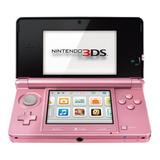 Nintendo 3ds Rosado Con Caja Cargador Y Memoria