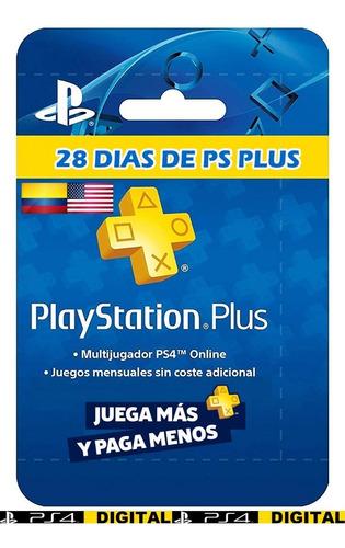 Ps Plus 28 Dias - Playstation Plus   Ps4