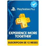 Playstation Psn Plus 365 Dias 1 Año Ps4, Promoción+obsequio