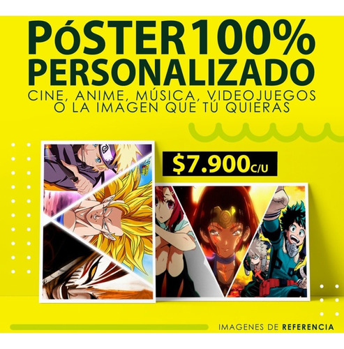 Afiches Poster Plastificado 100% Personalizado Anime Y Mas..