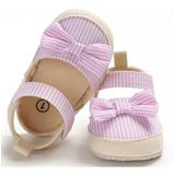 Zapatos Sandalias Bebe Niña Clanchas Elegantes Rayas