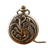 Reloj De Bolsillo Vintage, Game Of Thrones Con Cadenilla