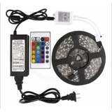 Cinta Led 5050 Rgb Multicolor Con Adaptador Y Control