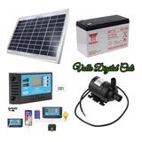 Bomba Agua Solar Sumergible 12v Controlador 10a Panel 10w