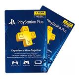 Playstation Psn Plus 12 Meses 434dias 1 Año Ps4-ps3 + Juegos