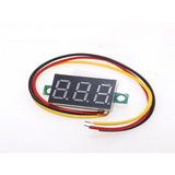 Mini Voltimetro Digital Dc 0v-100v 3 Cables Display Rojo