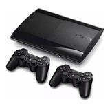 Play Station3 Ps3  Super Slim 500gb+ 44 Juegos + 2 Controles