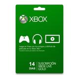 Xbox Live Gold 14 Dias. Súper Promoción!!!