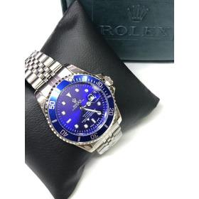 Reloj Rolex Hombre Submariner Clasico Calendario Y Bisel Fun